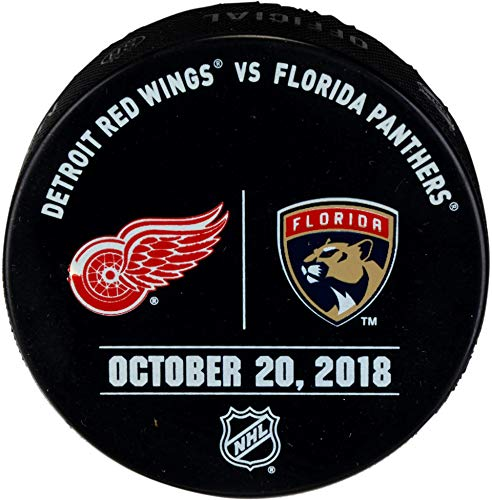 - Florida Panthers Game-Issued Warm-Up Puck vs. Detroit Red Wings on October 20, 2018 - Fanatics Authentic Certified