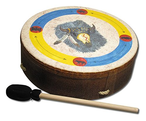 Remo 16 in. Buffalo Frame Hand Drum - Buffalo Graphic