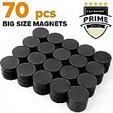X-bet MAGNET ™ - Ceramic Industrial Magnets - Bulk Lot of 70 Pcs Refrigerator Magnets - Tiny Round Disc Fridge Magnets - 1.18 Inch (30mm) - Magnets for Crafts, Science, Hobbies, Bottlecaps