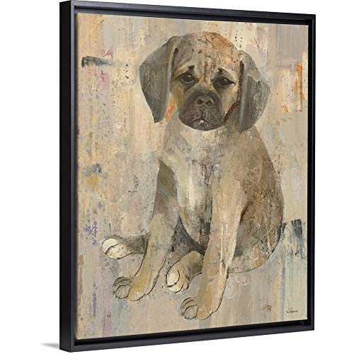 (Paco Black Floating Frame Canvas Art, 13