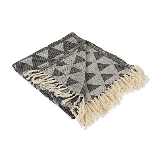 DII Modern Moroccan Cotton Blanket Throw with Fringe for Chair, Couch, Picnic, Camping, Beach, Everyday Use -  - blankets-throws, bedroom-sheets-comforters, bedroom - 51QQEaIZzTL. SS570  -