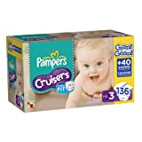 Pampers Cruisers Diapers Size 3 Giant Pack, 136 Count