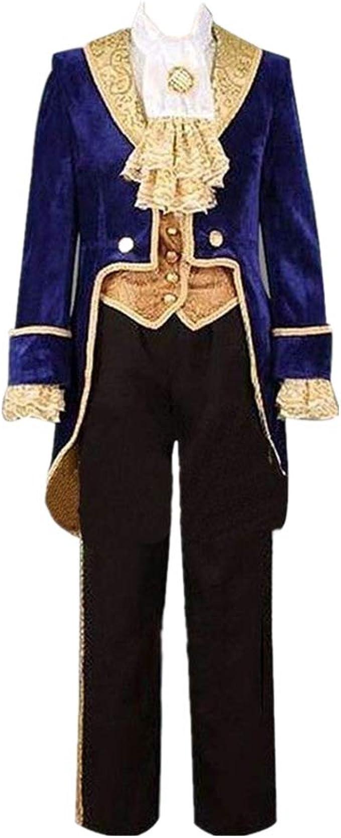 HEYUHECOS Disfraz de Esmoquin del príncipe de la Bella y la Bestia ...