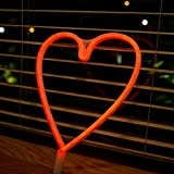 Neon Light LED Heart Sign Red Hearts Neon Art Light Sign Wall Decor for Hose Bar Recreational Birthday party, Kids Room, Living Room, Wedding Party Décor