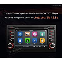 XTRONS 7 Inch Car Stereo Radio DVD GPS Navigator 1080P Video Capacitive Touch Screen for AUDI A4 S4 RS4 Kudos Map Card Included