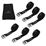 Lashing Straps, YITAMOTOR 1 Inch x 12 Ft Tie Down Straps up to 600lbs for Roof-top Tie Downs Pack of 6 (with storage bag)