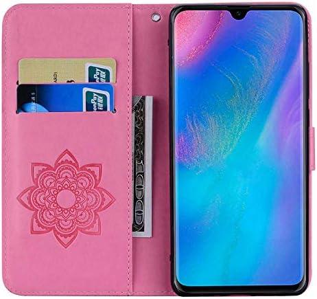 Huawei P30 Pro 防塵 ケース, CUNUS レザー ケース, 開閉式 軽量 ケース, 付き 可愛 耐汚れ カード収納 カバー Huawei P30 Pro 用, ピンク