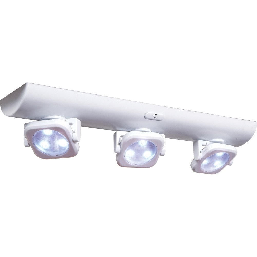 Collections Etc LED White Under Cabinet Swivel Lights 95303
