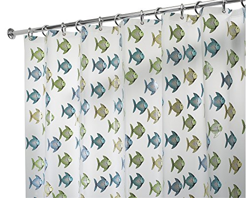 mDesign PVC Free Fabric Shower Curtain