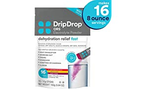 DripDrop ORS - Patented Electrolyte Powder for Dehydration Relief fast - For Heat Exhaustion, Hangover, Illness, Sweating & Travel Recovery, Variety Pack, 16Count