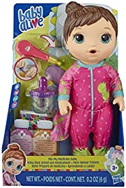 Baby Alive Baby Doll Brown Hair Toy for Kids