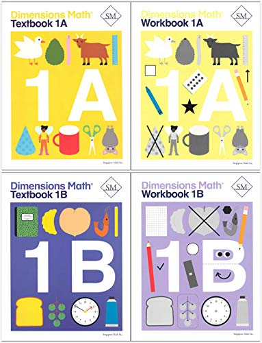 Dimensions Math Level 1 Kit (4 Books) -- Textbooks 1A and 1B, and Workbooks 1A and ()