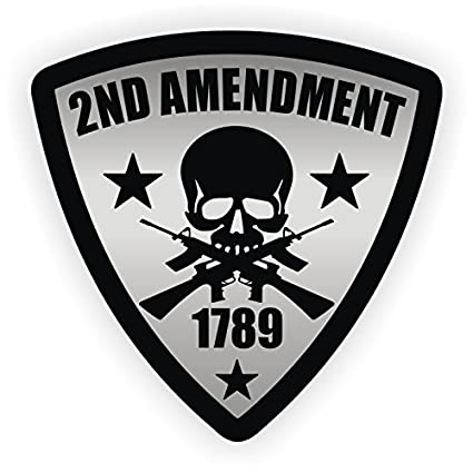 022b92b6745 Image Unavailable. Image not available for. Color  2nd Amendment Hard Hat  Sticker   Helmet Decal Label ...