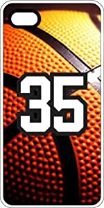Basketball Sports Fan Player Number 33 White Rubber Decorative iphone 4s Case