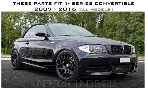 Underground Parts Gloss Black Front Grille Covers Kidney Grille Surrounds