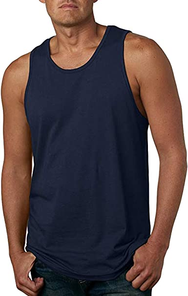 Firally - Camiseta de Tirantes para Hombre, de Verano, a la Moda, Color Puro, sin Mangas, para el Tiempo Libre, Gimnasio, Culturismo, Deporte, ...