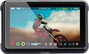 "Foto&Tech 2 Sets Crystal Clear HD LCD Screen Protector Compatible with Atomos Ninja V 5"" 4K HDMI On-Camera Recording Monitor"