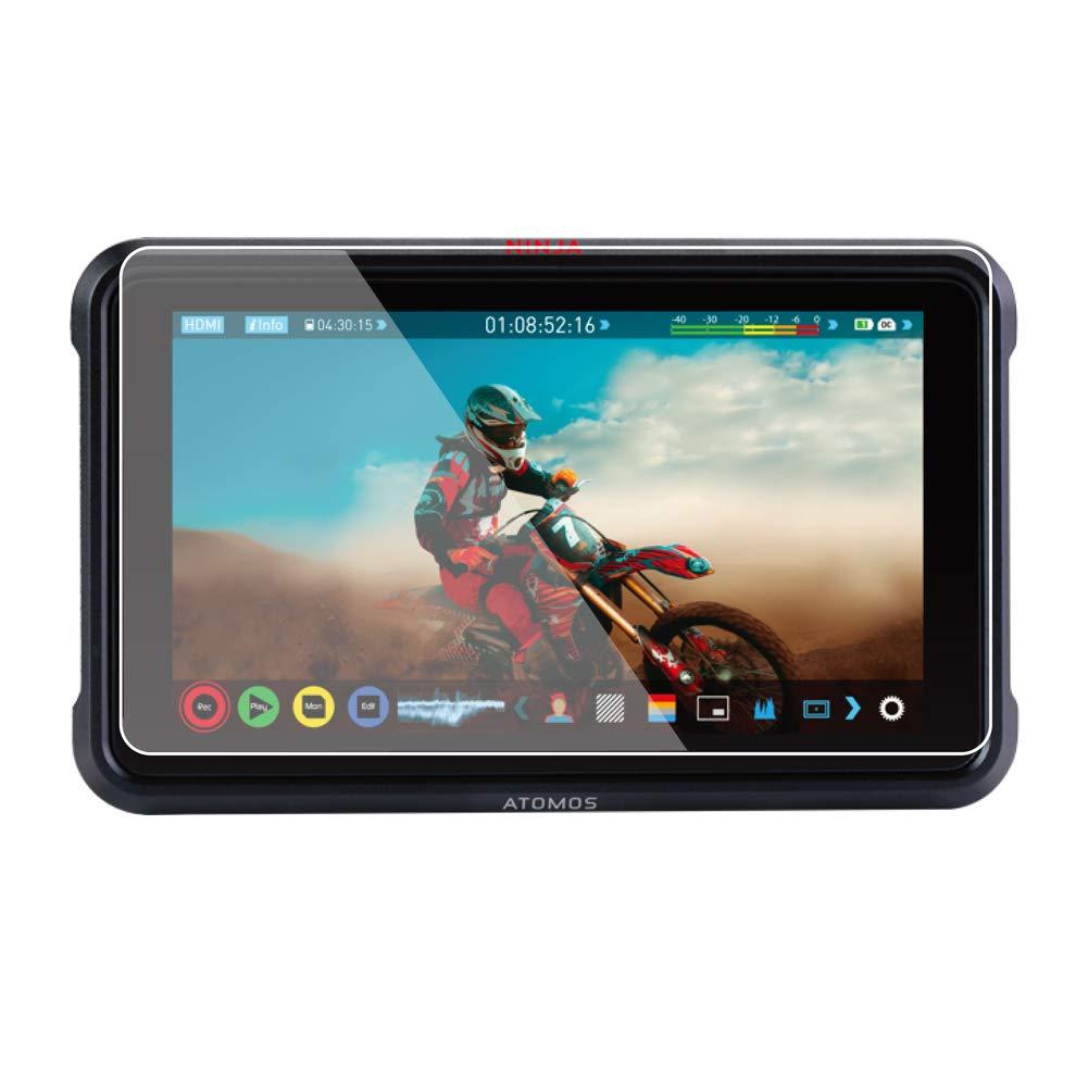 Foto&Tech 2 Sets Crystal Clear HD LCD Screen Protector Compatible with Atomos Ninja V 5'' 4K HDMI On-Camera Recording Monitor by Foto&Tech