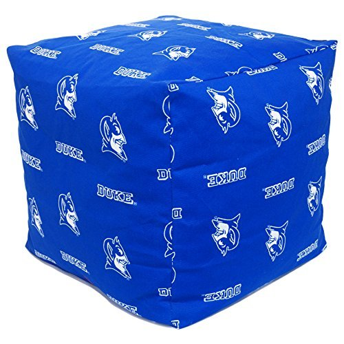 College Covers DUKCUC Duke Devils Cube Cushion Ottoman, Blue