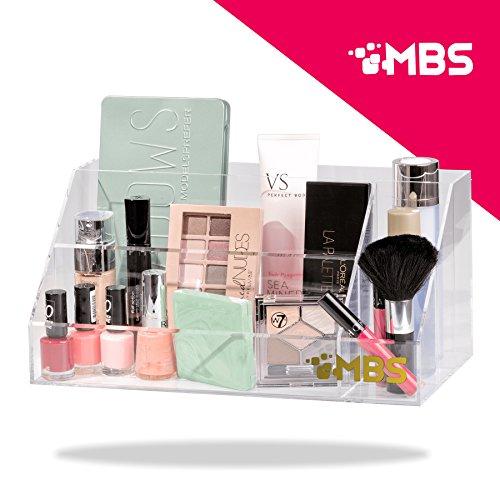 Large Capacity Clear Plastic Bathroom & Desktop Makeup Palette Organizer