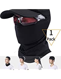 2 Pack Neck Warmer Gaiter, Polar Fleece Ski Face Mask Cover For Winter Cold Weather & Keep Warm