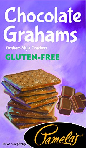 Squares Cracker Graham - Pamela's Products Gluten Free Graham Crackers, Chocolate, (Pack of 6)