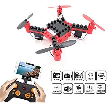 DIY Building Blocks Drone With Camera FLYTEC T11S FPV Quadcopter Headless Mode Auto Return