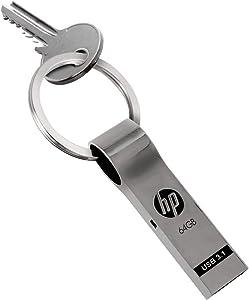 HP 64GB USB 3.0 Metal Key Ring Design Flash Drive