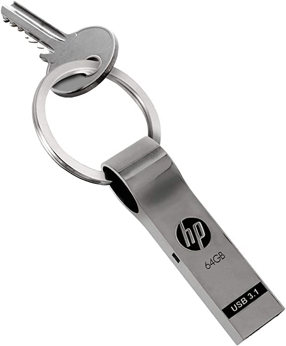 HP 64GB USB 3.0 Metal Key Ring Design Flash Drive