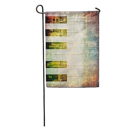 Amazon com : Semtomn Garden Flag Old Abstract Cracked Music
