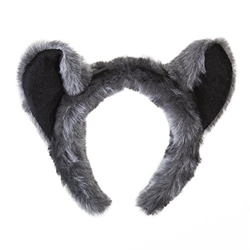 Wildlife Tree Plush Raccoon Ears Headband Accessory for Raccoon Costume, Cosplay, Pretend Animal Play or Forest Animal Costumes