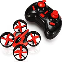 VKOPA Mini RC Drone, 2.4G Mini UFO Quadcopter with 6-Axis Gyroscope, Headless Mode 3D Flip One Key Return (Red)