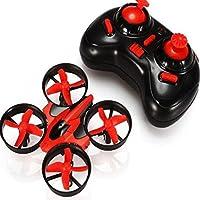 VKOPA Mini RC Drone, 2.4G Mini UFO Quadcopter with 6-Axis Gyroscope, Headless Mode 3D Flip One Key Return (Red)