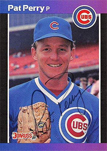 22073c6a0c Pat Perry autographed baseball card (Chicago Cubs, 67) 1989 Donruss ...
