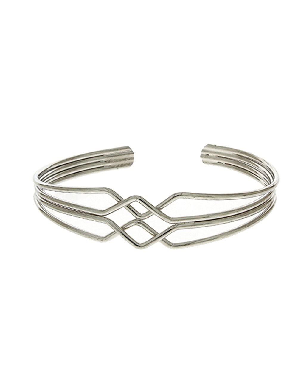 Anuradha Art Silver Finish Different Styled Fancy Hand Bracelet//Kada for Women//Girls
