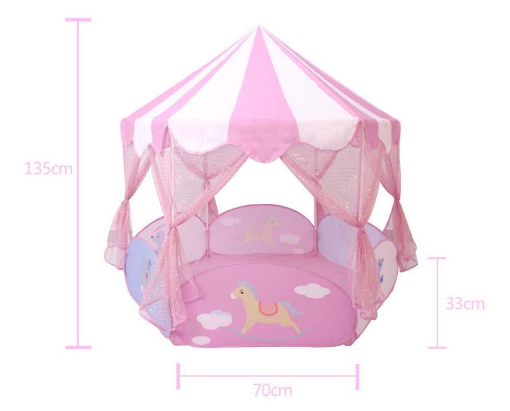 TTrar Faltendes Spielzeugzelt Kinder Indoor Spielhaus Baby Marine Ball Pool Zaun Zelt Prinzessin Spielzeug Haus Geschenk bevorzugt