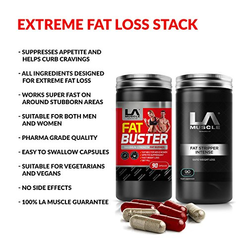 LA Muscle Extreme Guaranteed Fat Loss: Super Fast Results, Rapid Action Weight Loss Pills, Targets Stubborn Areas, Make Your Body Slimmer, Quad Action Ingrediants, Blast Those Stuborn Fatty Deposits.