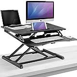 Sorbus Standing Desk Height Adjustable Sit to Stand Tabletop Workstation Dual Monitor Desk for Home or Office (Adjustable Desk Converter, Black)