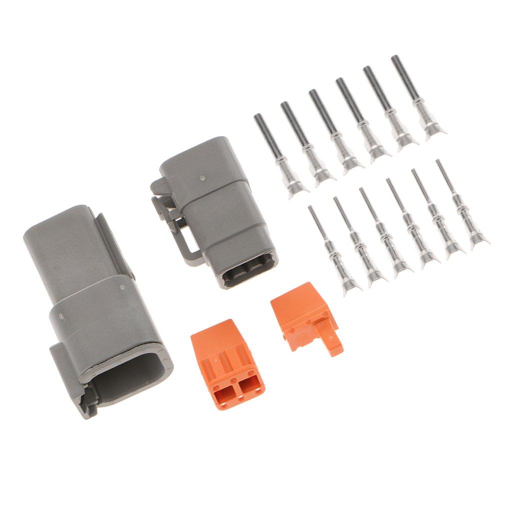 MagiDeal Set 6 Pin Terminale Elettriche Impermeabili 3 Vie Connettore Cavo Auto
