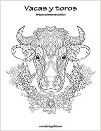 Vacas y toros libro para colorear para adultos 1: Amazon