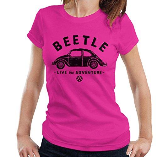 (Volkswagen Beetle Black Live The Adventure Women's T-Shirt)