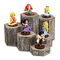 Mooca Wooden 6 Pcs Hexagon Risers for Display Jewelry and Accessories Display Stand