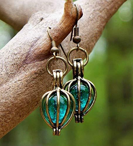 - Recycled Vintage Mason Jar Brass Drop Earrings