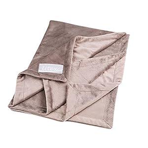 "UTEX Premium Microfiber Pet Blanket, for Small/Medium/Large Dogs, Puppy Kitten Bed, Warm, Soft, Plush (Small (32"" x 24""), Grey)"