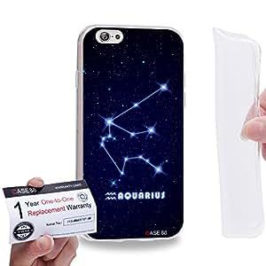 "Case88 [Apple iPhone 6 / 6s (4.7"")] Gel TPU Carcasa/Funda & Tarjeta de garantía - Art Universe Aquarius 12 Zodiacal"