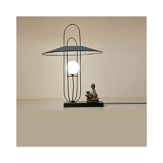 Somnrchun Lámpara Vintage Lámpara de Mesa Zen China Salón de té ...