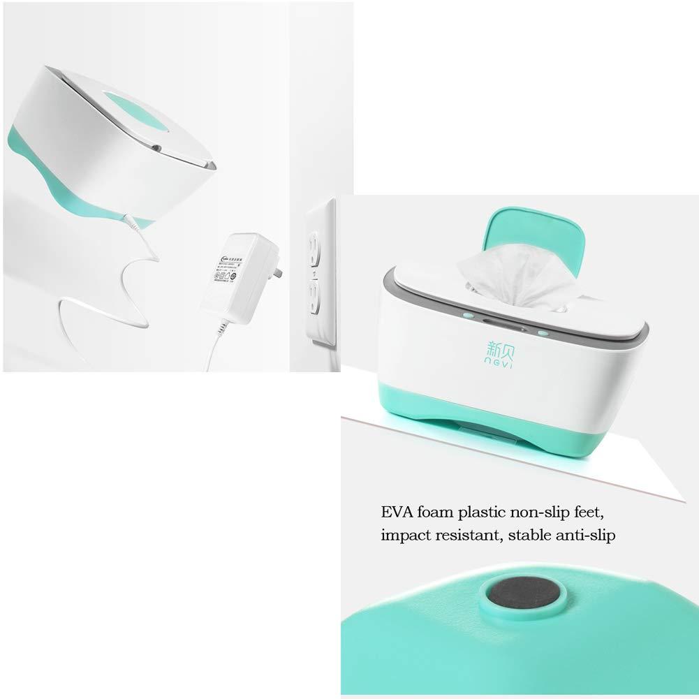 Toallitas para bebés Calentador Temperatura constante 24H - Gran capacidad Toallitas Caja Caja de pañuelos Desinfección, Salud caliente No hay necesidad de ...
