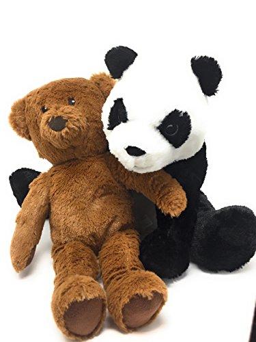 Super Big Bear Plush (VALENTINE'S DAY TEDDY BEARS - LOVEABLE AND CUDDLY SUPER SOFT PLUSH STUFFED PANDA BEAR AND BROWN BEAR 2 TEDDY BEAR BUNDLE)