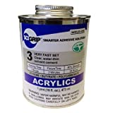 SCIGRIP 3 Acrylic Solvent Cement, Low-VOC, Water-thin, 1 Pint Can with Screw-on Cap, Clear