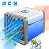 Portable Air Conditioner USB Fan Cooler with Humidifier and Air Purifier | Portable Space Cooler for 45 Square Feet | Table or Desk Fan with Evaporative Air Technology for Cool and Refreshing Temps